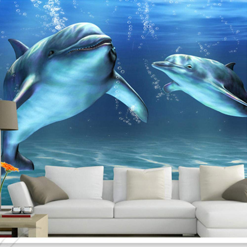 sold out Awttmua 3D Marine Animal 70% OFF Outlet Cartoon f Photo Dolphin Wallpaper Mural