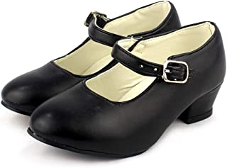 Menkes Chaussure de Flamenco Mod/èle D/ébutant Cal/é Cuir avec Clous pour Femme Taille 36 Noir