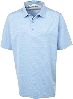 Golf Apparel - Short Sleeve XH2O Grid Jacquard Performance Polo Shirt for Men