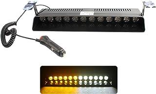 Pumpumly Parabrisas delantero del coche LED luz S12 12LED ventosa estroboscópica policía luces 12 V auto delantero y trase...
