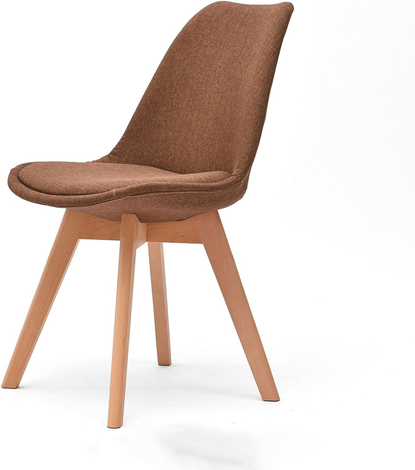 CQOZ Solid Wood Desk Chair Simple and Modern Backrest Household Dining Chair Northern Europe Creative Office Chair 43 × 43 × 83cm Sofa Stool (color    3)