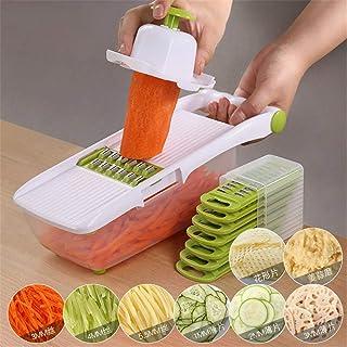 SEESEE.U Cuisine multifonctionnelle de légumes râpe Inoxydable Gadgets de Cuisine trancheuse de Pommes de Terre Ronde