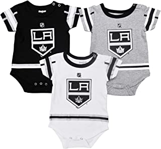 Outerstuff Los Angeles Kings Baby/Infant Hockey Jersey Style 3 Piece Creeper Set