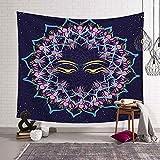 N / A Schwarz-Weiß-Sonne Mond Tapisserie psychedelische himmlische indische Sonne Hippie Hippie Tapisserie Wandbehang Tagesdecke Dekoration Tapisserie Hintergr&tuch A7 150x200cm