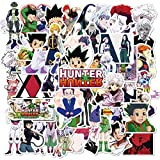 50pcs Japanese Hunter×Hunter Anime Stickers Waterproof Laptop Stickers Car Bicycle Suitcase Computer Water Bottle Mobile Phone Stickers Water Resistant Decals (HXH 1)