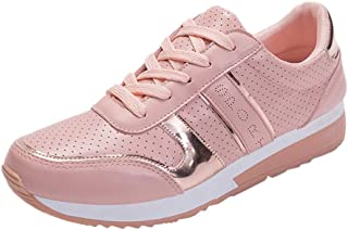 Qootent Women Flat Running Shoes Travel Shoes Student Casual Fashion Sneakers