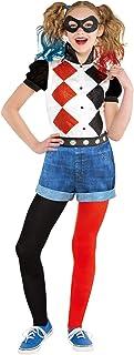 Amscan 9906096 Girls Classic Official Licensed Warner Bros Harley Quinn Child Kids Fancy Dress Costume (10-12 Years)