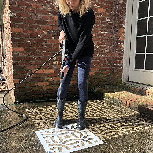 Driveway Art DIY Pressure Washer Stencil Designs - CLT Links Stencil for Walkways, Driveways, Concrete Patios - Creative Custom Styling, Easy to Use, Long Lasting Curb Appeal!