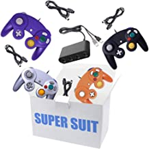 $45 » King Smart 4 Pack Gamecube Controller Bundle, with 4 Gamecube Extension Cables and 4-Port Gamecube Adapter for Wii U/Switc...