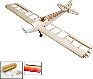 Dancing Wings Hobby Balsawood 4CH Radio Remote Controlled Electric& Gas Aircraft 1230mm Space Walker ;Laser Cut Wooden Plane Spacewalker Building Kit+Covering Unassembled for Adutls(S1001B)