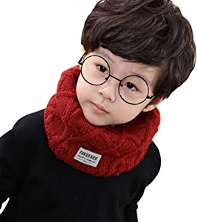 Kids Toddler Winter Warm Infinity Scarf Wool Knitted Baby Girls Boys Neck Warmer
