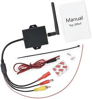 Saikogoods 2.4Gワイヤレスビデオトランスミッターレシーバーキット車のリアビューカメラのバックアップ安定した信号のワイヤレス接続をリバース ブラック