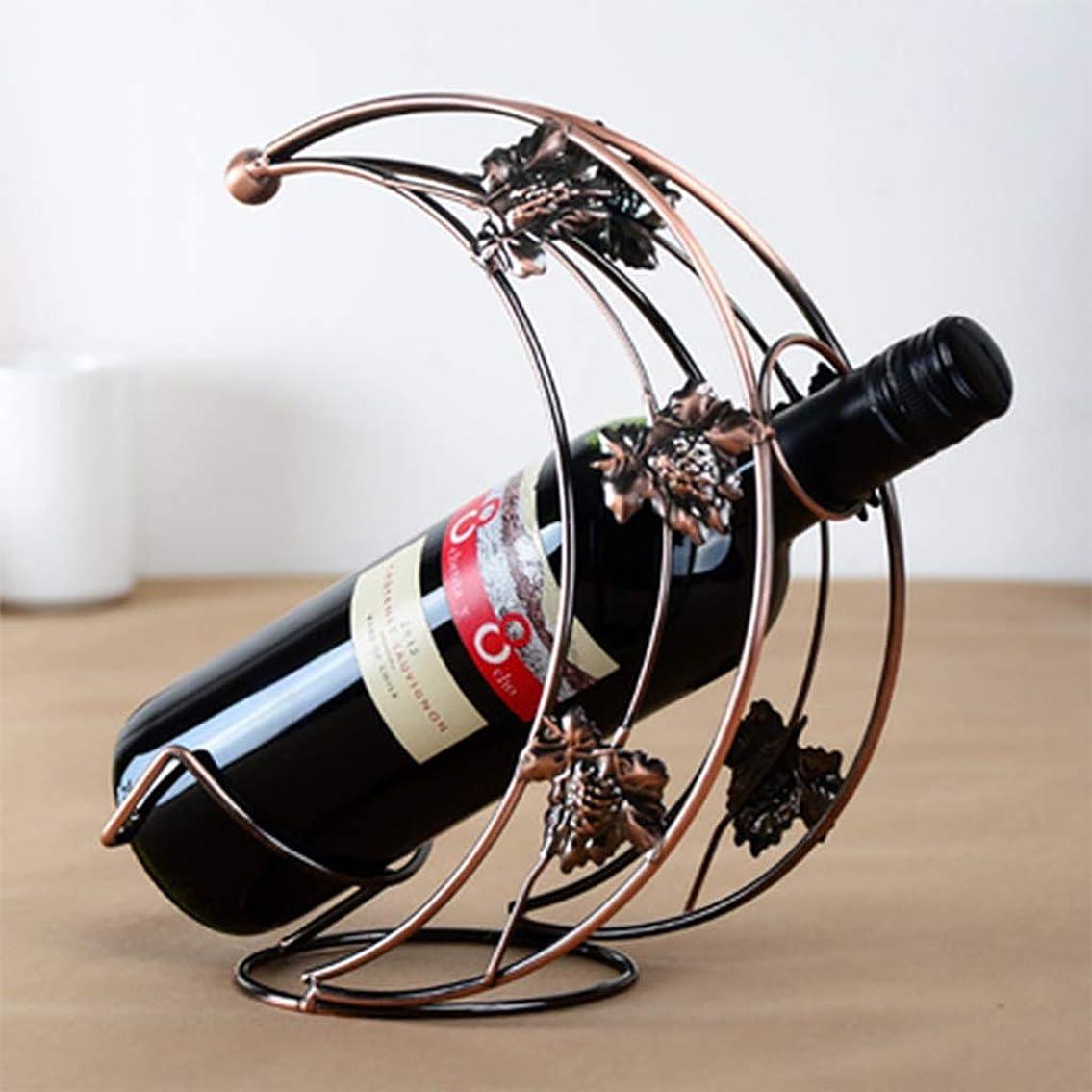 酔う回転豊かにするクリエイティブ?ムーンシェイプワインラックワイングラスホルダー実用的なワインホルダー展示棚の装飾金具バー用品