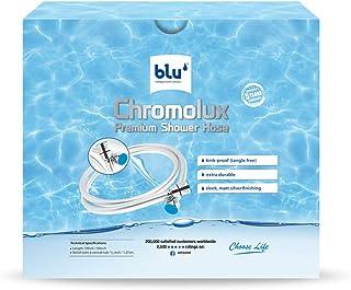 Chromolux Shower Hose, blu Ionic Shower Filter Handheld Shower Hose, 150cm long (59 Inch)