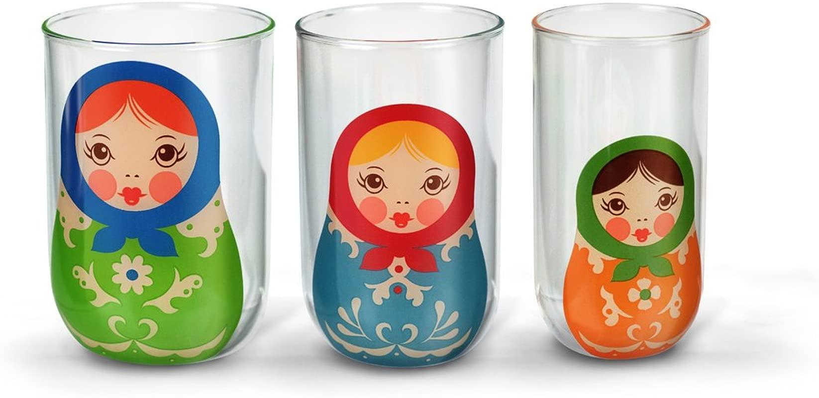 Fred BABUSHKUPS Nesting Glass Trio