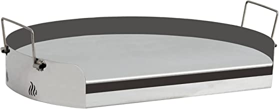 BBQ-TORO Universal Edelstahl Grillplatte, Barbecue Plancha, rund, für Gasgrill, Kugelgrill und mehr