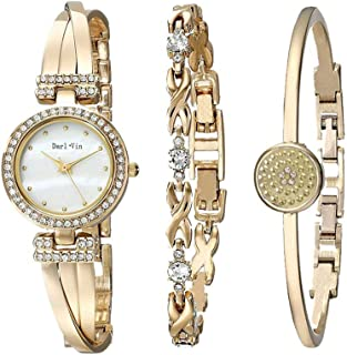 Women's Wrist Watches with Rose Gold Band 3 Sets Match Any Outfits