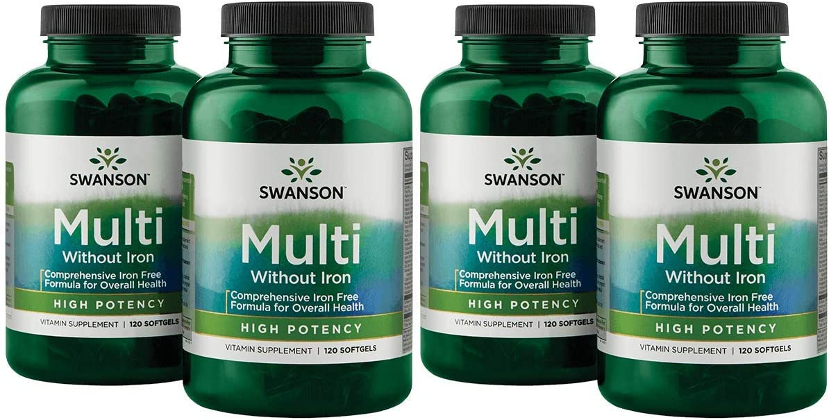 Swanson Multi Without Rapid Max 88% OFF rise Iron Multivitamin P Supplement High Health