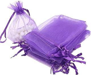 Vokmon Gift Bag Mesh 10pcs sposa sottile Coulisse Design Filati Pouch Partito Solido favore di Colore Candy Bag