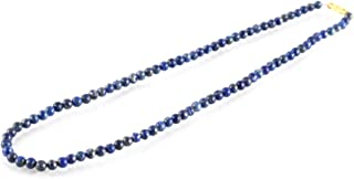 Aatm Gemstone Blue Necklace Stone for Enlightenment (Beads Size - 6mm)