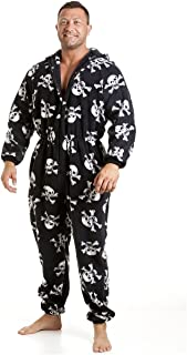 6a57801bd6ca1 Camille Pyjama Noir Tout en Un pour Homme en crâne Rouge ou Blanc