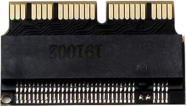 OLVINS Tarjeta adaptadora SSD NGFF M.2 nVME para actualizar MacBook Air A1465 A1466 (año 2013-2016) y para Mac Pro (año 20...