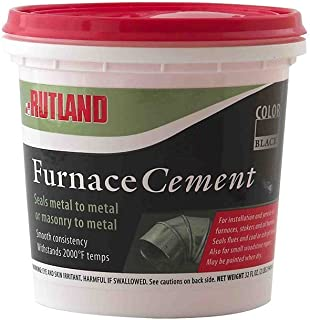 Rutland Furnace Cement, 16 oz, Black