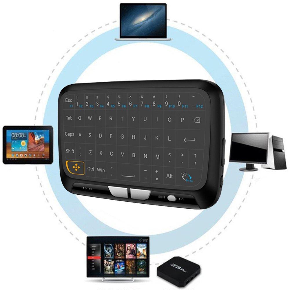 Mini Teclado inalámbrico, Mini Teclado inalámbrico Inalámbrico Mini Teclado y Mouse con Touchpad para Smart TV, Raspberry Pi, HTPC, IPTV, Android TV Box: Amazon.es: Hogar