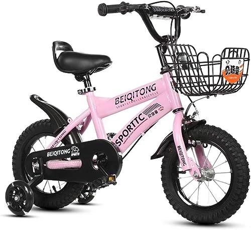 primera vez respuesta Axdwfd Axdwfd Axdwfd Infantiles Bicicletas Bicicleta for Niños con Ruedas de Entrenamiento, tamaño 12 14 16 18 con estabilizador y Canasta  precio razonable