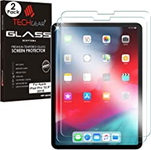 """TECHGEAR [2 Pack] GLASS Edition for New iPad Pro 12.9"""" 2018, [Updated for FACE ID] Genuine Tempered Glass Screen Protector Guard Covers Compatible with New Apple iPad Pro 12.9 inch 2018 & Pencil"""