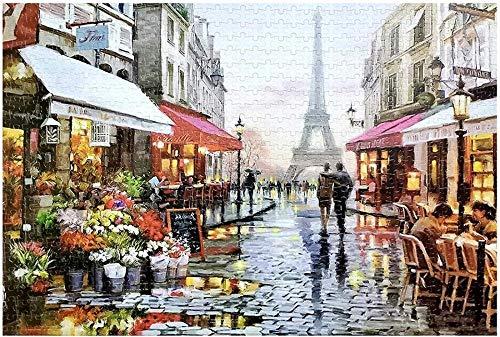 Mini Puzzles de 1000 Piezas en Miniatura DIYpara Adultos Debajo de la Torre Eiffel de cartón Resistente Desafío de Ejercicio Cerebral Juego de Alta dificultad Regalo para Niño 38 * 26cm