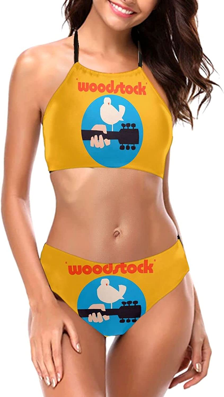 Woodstock Bikini Set Womens Swimsuit Halter Ranking TOP14 Piece Two shop