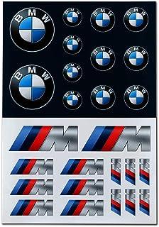BMW Logo M Performance Aufkleber Set Selbstklebende Sticker