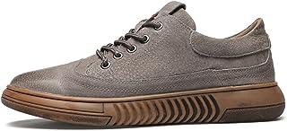Zapatos casuales Zapatos deportivos para hombres, zapatos de punta redonda pulida de cuero retro, zapatos causales de cost...