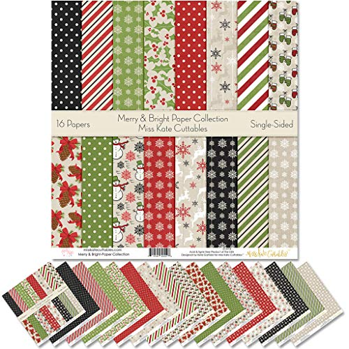 Holiday patterns cardstock