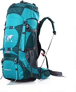 Outdoor Mountaineering Bag Multi-Function Travel Backpack Hiking Camping Backpack Large Capacity Adjustable Carrying System 70L Annacboy (Color : B)