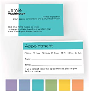Buttonsmith Custom Color Blocks Appointment Premium Printed Business Cards - 3.5