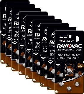 Rayovac Acoustic zink lucht hoorapparaat batterij in grootte (met 60 batterijen geschikt voor hoorapparaten gehoorhulpen h...