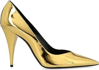 SAINT LAURENT Luxury Fashion Womens 578599AAL008030 Gold Pumps | Fall Winter 19