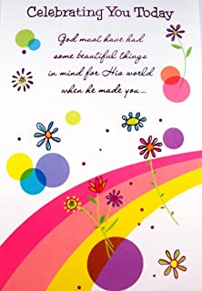 Braille Embossed Birthday Greeting Card - Celebrating You Today