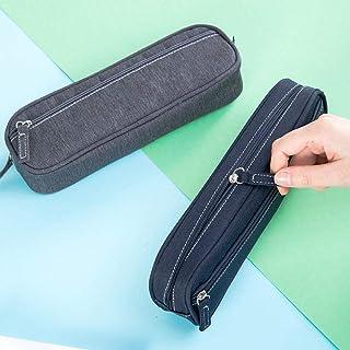 LMWB skrivmaterial pennväska manliga och kvinnliga studenter pennfodral förvaring dubbla fickor linne stor kapacitet multi...