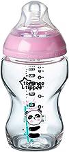 Tommee Tippee Closer to Nature Biberon di Vetro, 250 ml, Rosa