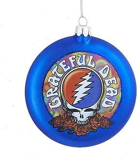 Kurt Adler Glass Grateful Dead Disc Ornament, 100mm