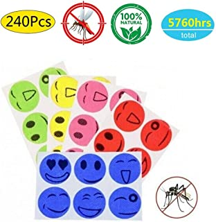 Goldenlight 240 Pcs Mosquito Repellent Patches Natural Essential Plant Oils Natural Bug Repellent Sticker, Simply Apply to Skin and Clothes Non-Toxic, Safe for Kids and Adults