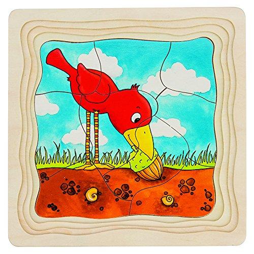 Goki 57522 - Schichtenpuzzle - Der Baum