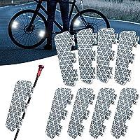 Flectrゼロバイクリフレクター、防水自転車警告リフレクター、スタイリッシュに安全に乗れる、マウンテンバイクとロードバイク用のホイールルミナスステッカー (16PCS)