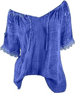 LUNIWEI Womens Tops Summer Butterfly Printing Short Sleeve Shirt Blouse T-Shirt Large Size