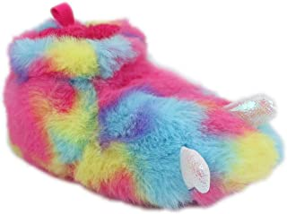 Children/Kids/Baby/Boys/Girls Cute Warm Plush Dragon Claw | Dinosaur Foot Monster Claw Indoor House Fuzzy Slipper/Shoes Costume (Infant/Toddler/Little Kid) - Rainbow (5 Toddler)