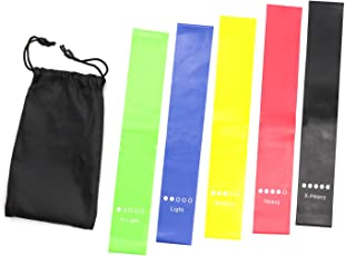Aliddle Resistance Bands Set - 5-Piece Exercise Bands for Home Fitness,Stretching, Strength Training, Physical Therapy, Workout Bands, Pilates Flexbands