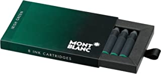 Montblanc Ink Cartridges Irish Green 106274 – Short International Standard Fountain Pen Refills in Dark Green – 8 Pen Cartridges